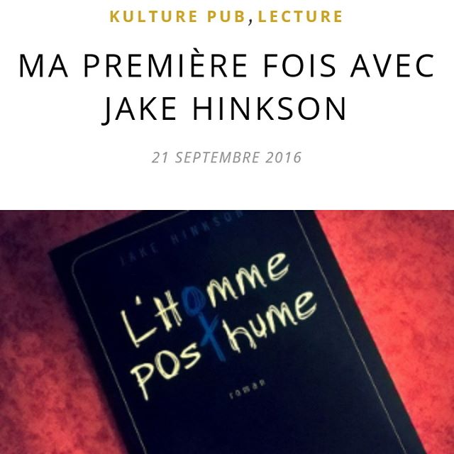 On a rencontr Jake Hinkson et dvor son livre Onhellip